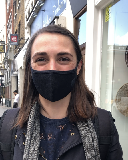 Rosie Emery out shopping in Upper Street on April 12