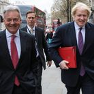 Sir Alan Duncan (L) and  Boris Johnson (R) walk down Whitehall on March 29, 2017 - the day Theresa May triggered Article 50