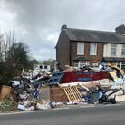 Tonnes of waste was left strewn on a doorstep