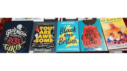 Some of the books on offer at the BME youth library