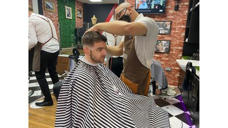 Andy Webber at barbers