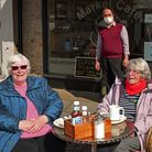 Mrs Linley and Christine Andrews both 77 years old from St Neots were also basking in the sunshine.