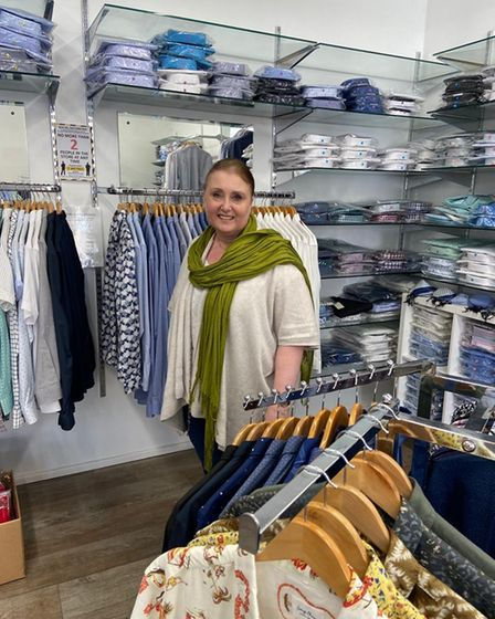 Katherine Roberts, the owner of The Shirt Shop in St Neots.