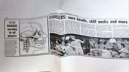 How Rob Hughes reported on the damage created by heading for the Sunday Times in 1974