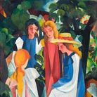 A painting by August Macke, the German expressionist who died in the First World War, aged 27