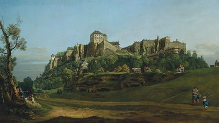 The Fortress of Königstein Castle from the North by by Bernardo Bellotto