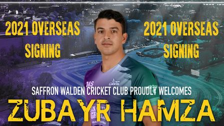 Saffron Walden Cricket Club sign Zubayr Hamza.
