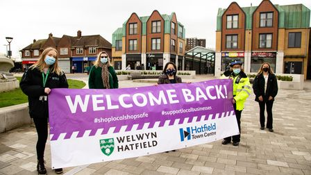 Hatfield town centre welcomed back shoppers on April 12