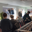 Eager shoppers headed to Hitchin's H-Town Rags on Monday, April 12 on their first day back open