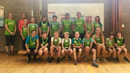 Junior members at Sidmouth Running Club