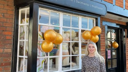 Heather Smith from Elouise Lingerie welcomed back customers on April 13.