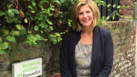 Barnardo's London Director Lynn Gradwell outside the charity's regional office in Chillingworth Road