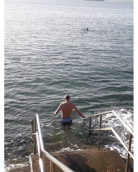 Man about to go for charity swim