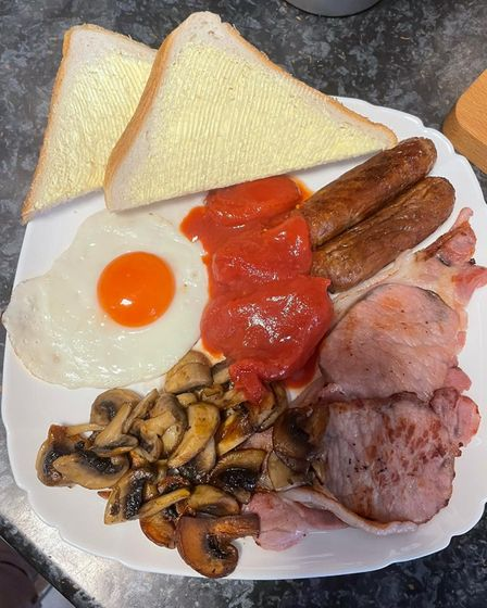 The first cooked breakfast from Tasty Bites, Royston, in four months.