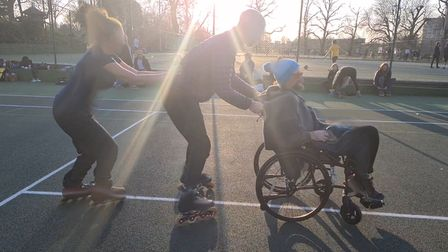 Roller skaters,wheelchair users and many others startedusing the tennis courts in Clissord Park over lockdown.