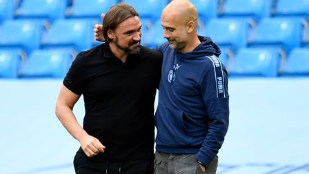 Norwich City head coach Daniel Farke looks poised to pit his wits against Manchester City manager Pep Guardiola