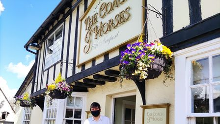 Tenant Jon Louis reopening The Coach and Horses in Newporton April 12 after a planning appeal refusal of pub garden houses