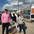 Joe Lycett and Kath Lane from Paignton Pleasure Cruises, plus Muriel