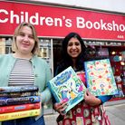 Aimee Gilbert and Sanchita Basu De Sakar outside of the Children's Bookshop in Muswell Hill