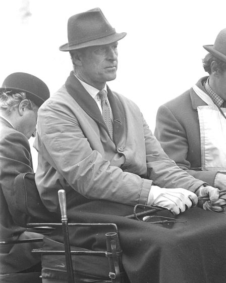 The Duke of Edinburgh at the annual carriage driving event, Cirencester Park, 1974
