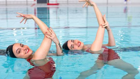 Synchronised swimming group Aquabatix joined in Clissold Leisure centre's reopening.