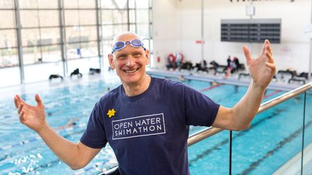 British Olympic swimmer Duncan Alexander Goodhew, MBE at Clissold Leisure Centre.