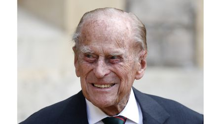 The Duke of Edinburgh during a ceremony for the transfer of the Colon