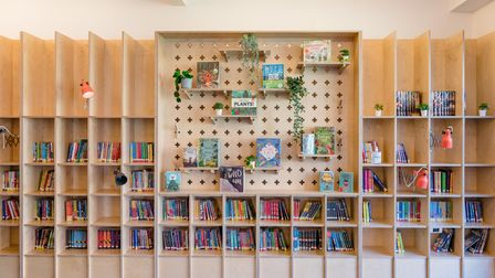The new library at Thornhill School has finished completion