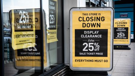 Oak Furnitureland in Ipswich is closing down. Picture: Sarah Lucy Brown