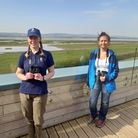 Kate Fox with Mya-Rose Craig at WWT Slimbridge
