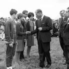 The Duke of Edinburgh at the officially opening of Grafham Water in July 1966.