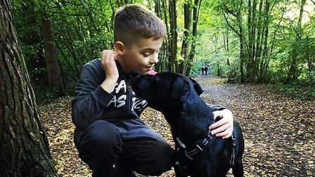 Jake Watson, from Poringland, has raised £530 for Smart Rescue Norfolk.