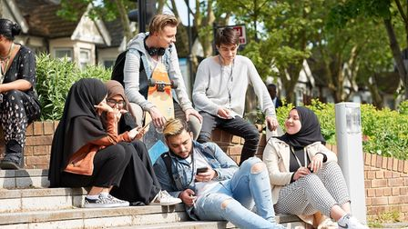 Students at NewVIc college