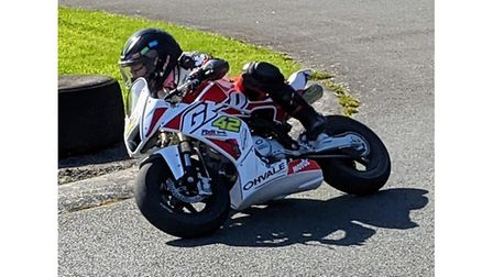 Thorley Trevorrow in racing action