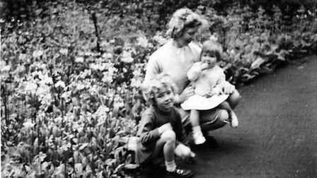 Pete Perry's wife Dorothy, with their daughters Vivien & Deborah. This is the last photograph took of Dorothy before she died