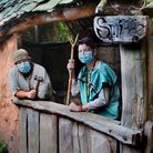 Saxon villagers at Wildwood Escot