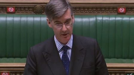 Jacob Rees-Mogg during a debate in the House of Commons. Photograph: Parliament TV.