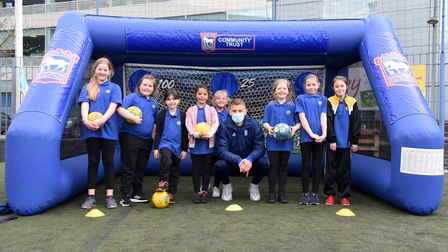 Castle Hill Primary. A girls football festival held at Portman Road with players from the ITFC women