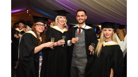 Celebrations at a University of Suffolk graduation for the School of Psychology and Education in 2018