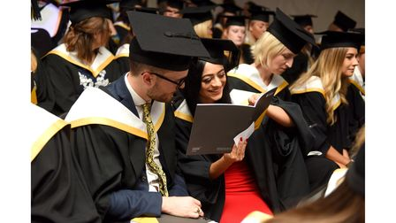 University of Suffolk graduation for the School of Psychology and Education in 2018