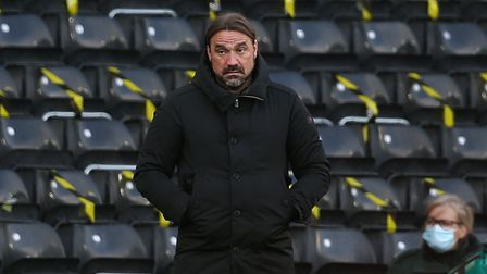Norwich Head Coach Daniel Farke during the Sky Bet Championship match at Pride Park Stadium, Derby