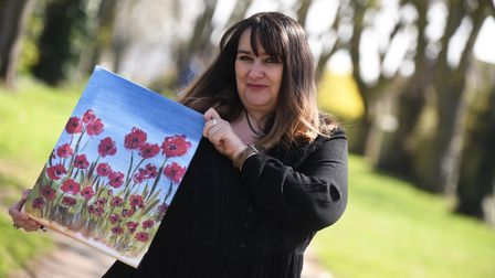 Rosa Manteiga Castro uses art to cure her mental health Picture: CHARLOTTE BOND