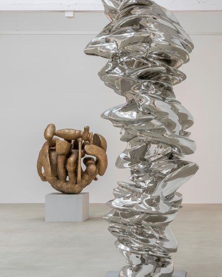 Tony Cragg's sculpture,It is, It isn't. Mr Cragg's work will go on show at Houghton Hall in Norfolk.