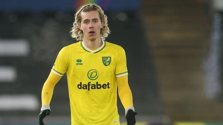 Todd Cantwell of Norwich City during the Sky Bet Championship match at the Liberty Stadium, Swansea