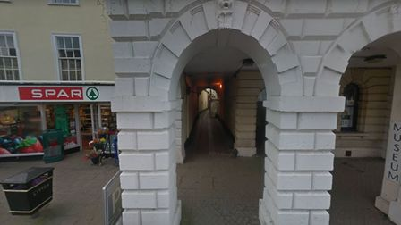 The reported assault took place in an alley way between the Spar shop, in Broad Street, and South Molton Museum