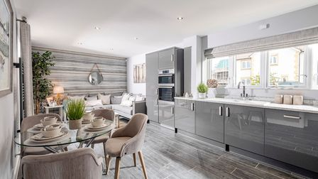 The interior at the Wroughton home at Bellway's Bilbie Grange development in Banwell.