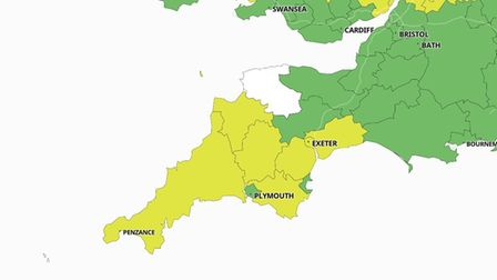 Coronavirus cluster map showing North Devon and it's 0 infection rate for the period from April 3-9