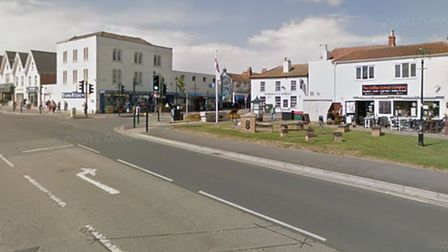 The council says its Union Jack flag, on the corner of Burnham's Old Station Approach and High Street, has been stolen.