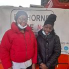 Volunteers from the Elthorne Pride community group who helped to hand out over 200 new coats
