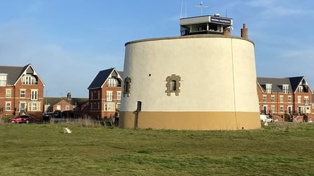 Martello Tower P at Felixstowe south seafront